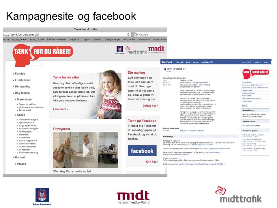 Kampagnesite og facebook