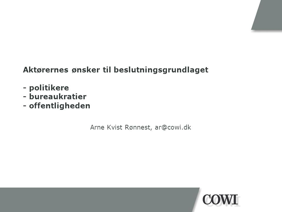 Arne Kvist Rønnest, ar@cowi.dk