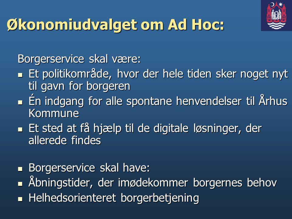 Økonomiudvalget om Ad Hoc: