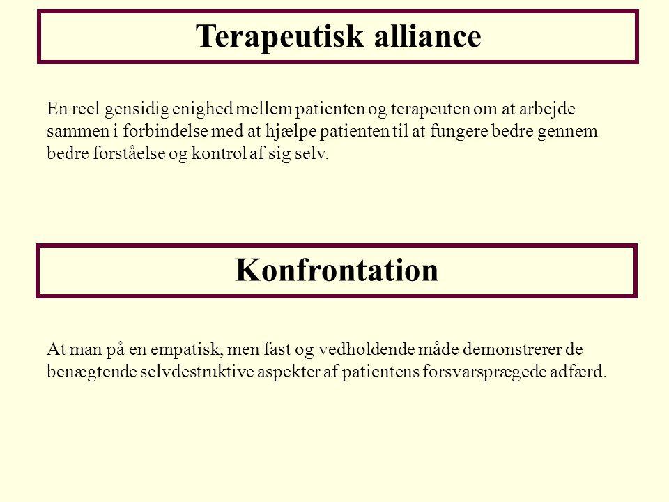 Terapeutisk alliance Konfrontation