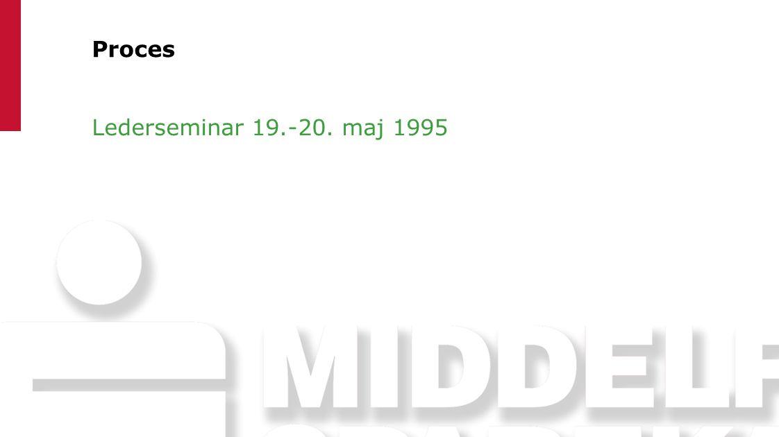 Proces Lederseminar 19.-20. maj 1995