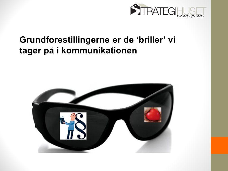 Grundforestillingerne er de 'briller' vi tager på i kommunikationen