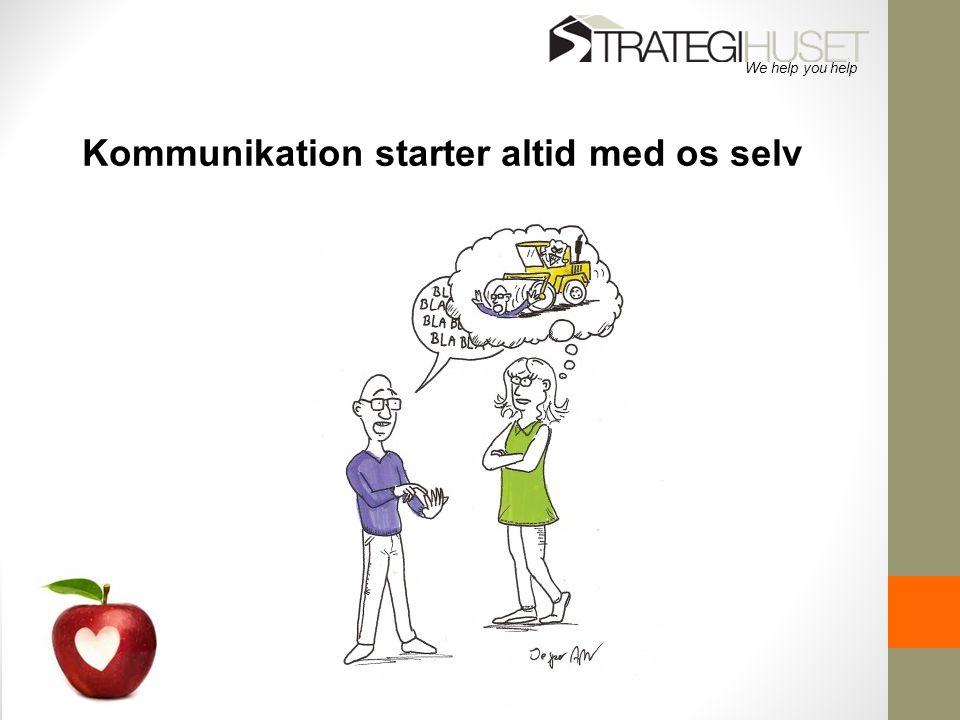 Kommunikation starter altid med os selv