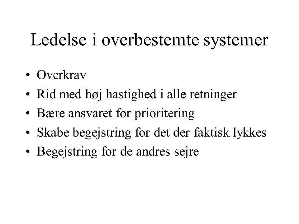 Ledelse i overbestemte systemer