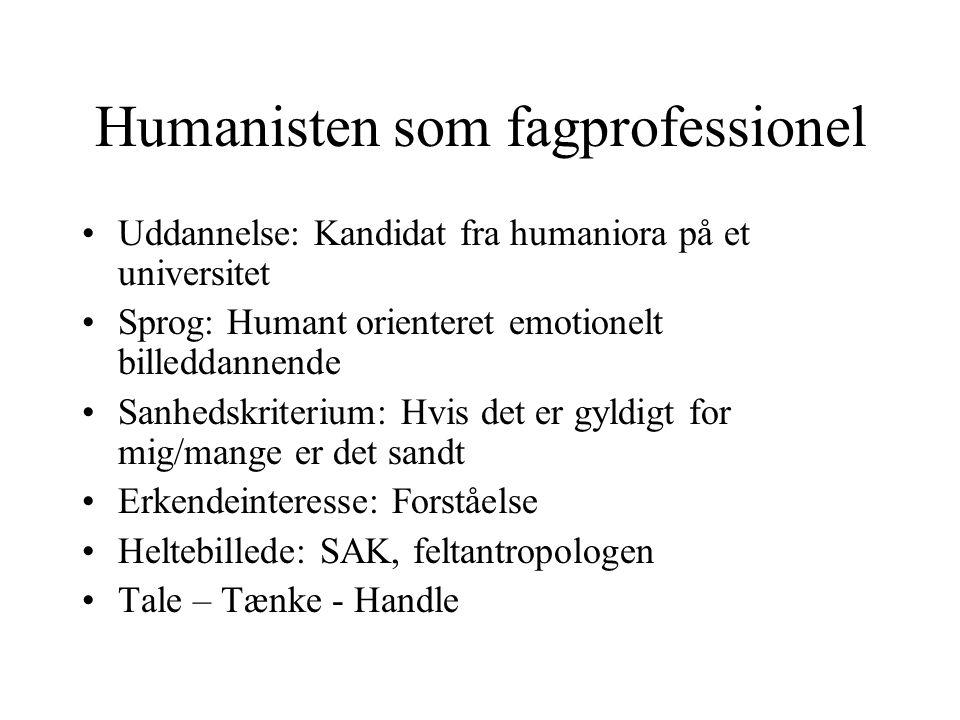 Humanisten som fagprofessionel