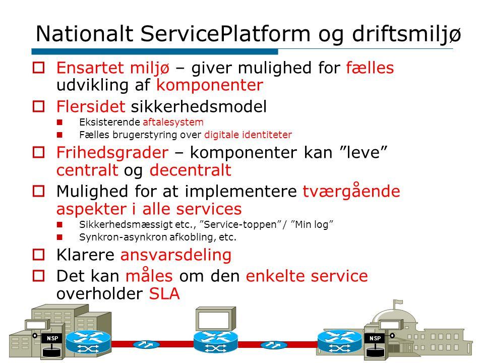 Nationalt ServicePlatform og driftsmiljø