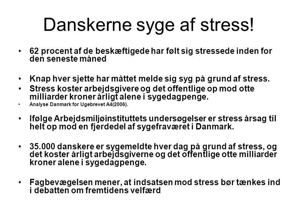 Danskerne syge af stress!