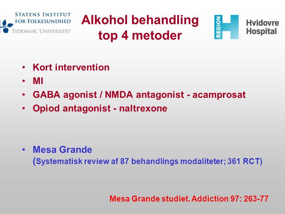 Alkohol behandling top 4 metoder