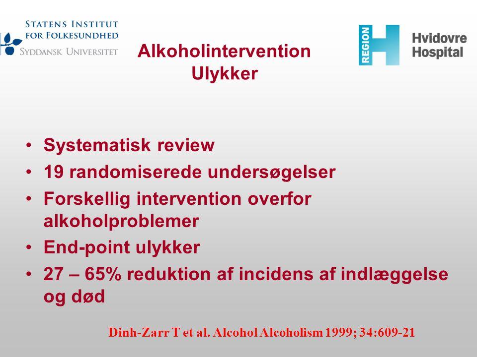Alkoholintervention Ulykker