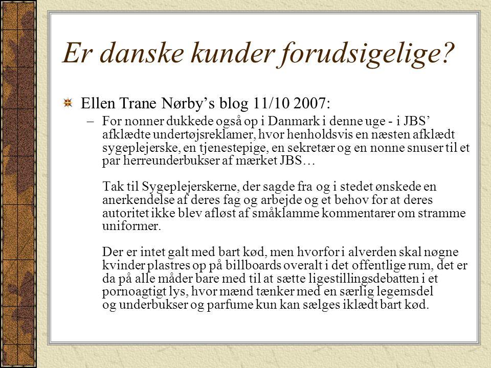 Er danske kunder forudsigelige