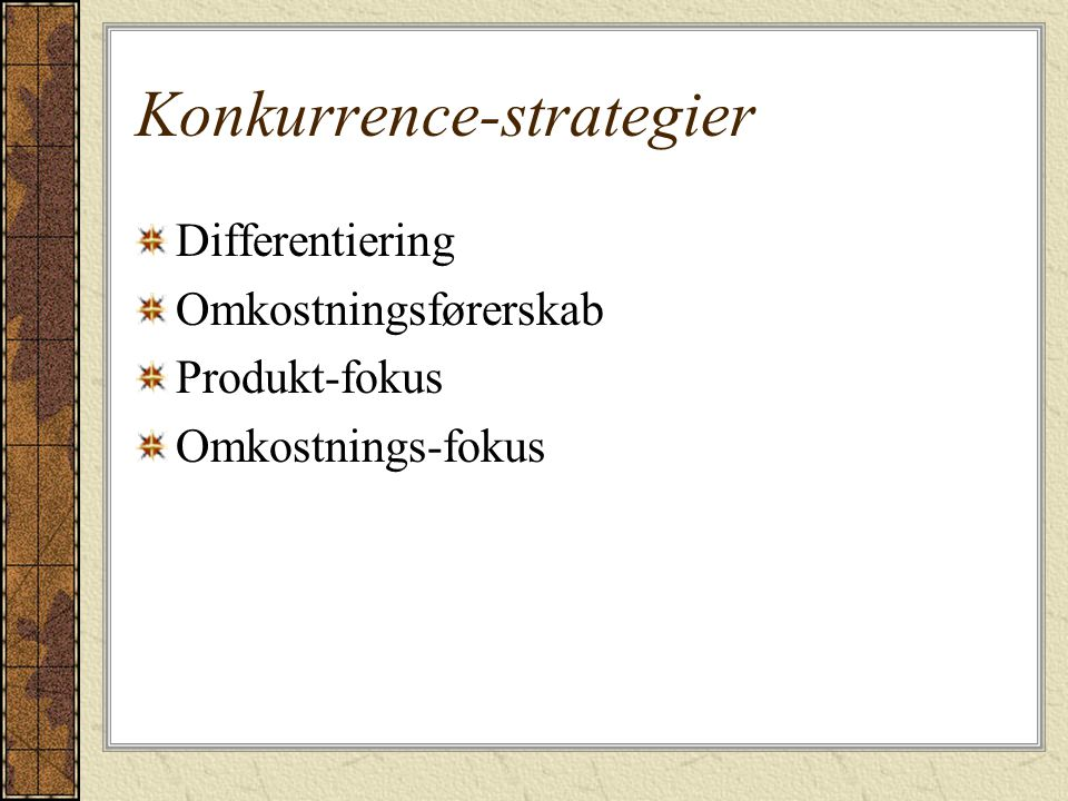 Konkurrence-strategier