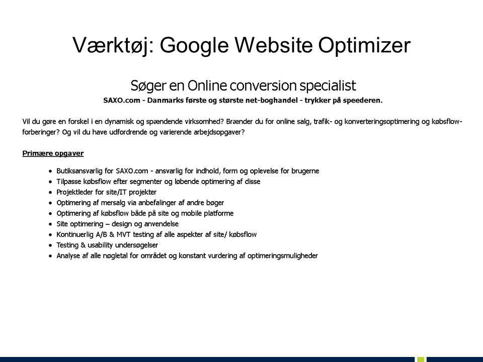Værktøj: Google Website Optimizer