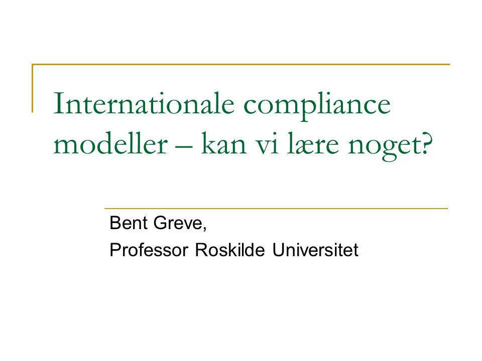 Internationale compliance modeller – kan vi lære noget