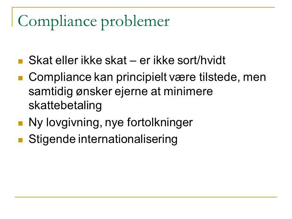 Compliance problemer Skat eller ikke skat – er ikke sort/hvidt