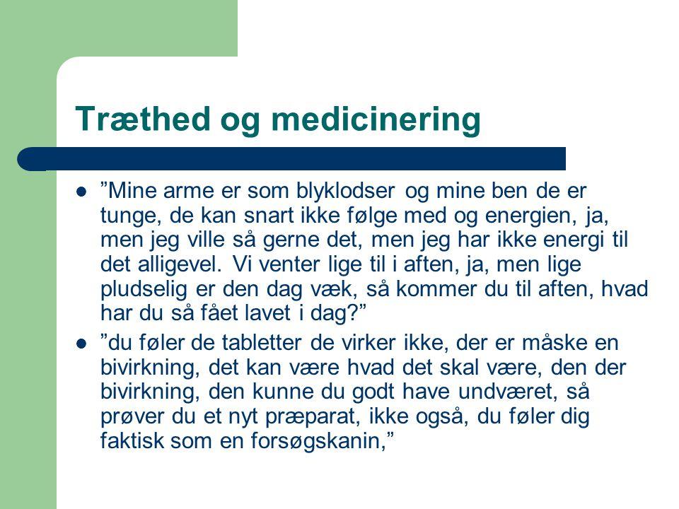 Træthed og medicinering