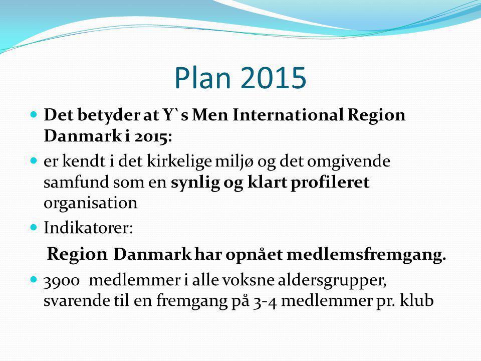 Plan 2015 Det betyder at Y`s Men International Region Danmark i 2015: