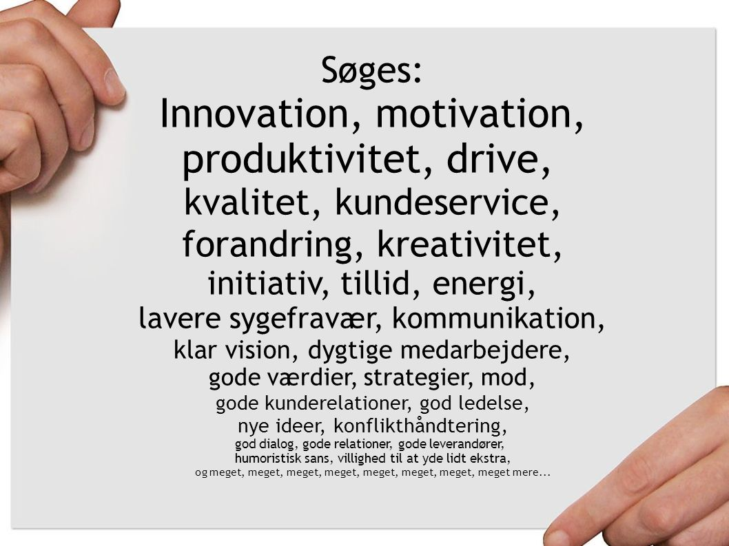 Innovation, motivation, produktivitet, drive,