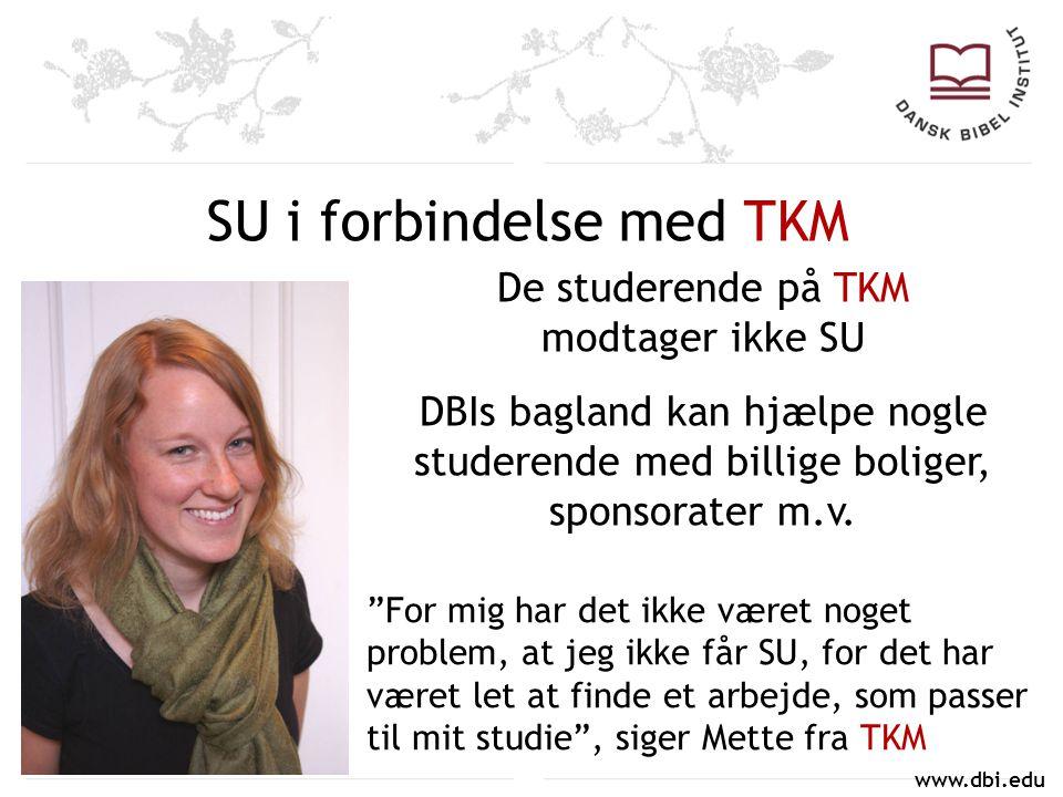 SU i forbindelse med TKM