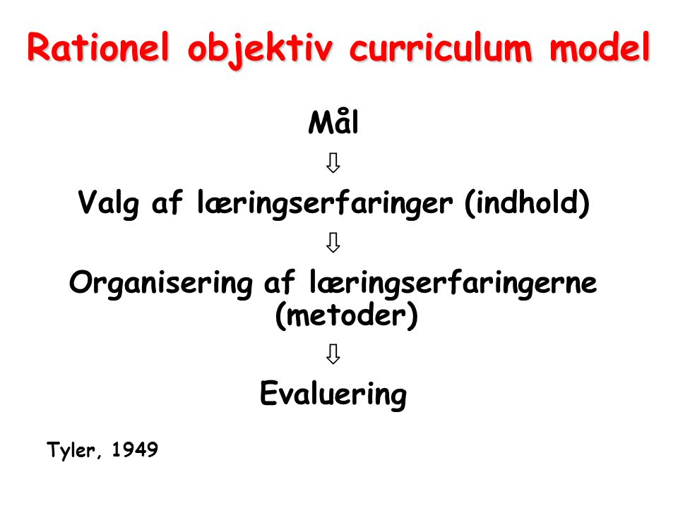 Rationel objektiv curriculum model