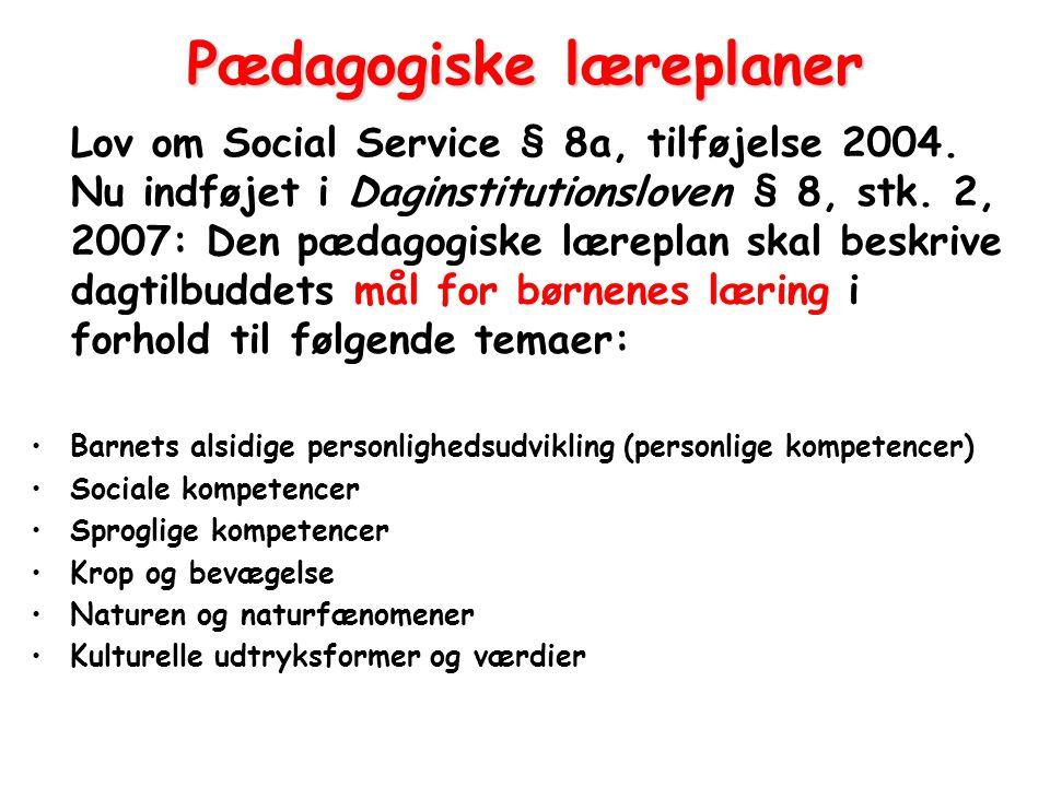 Pædagogiske læreplaner