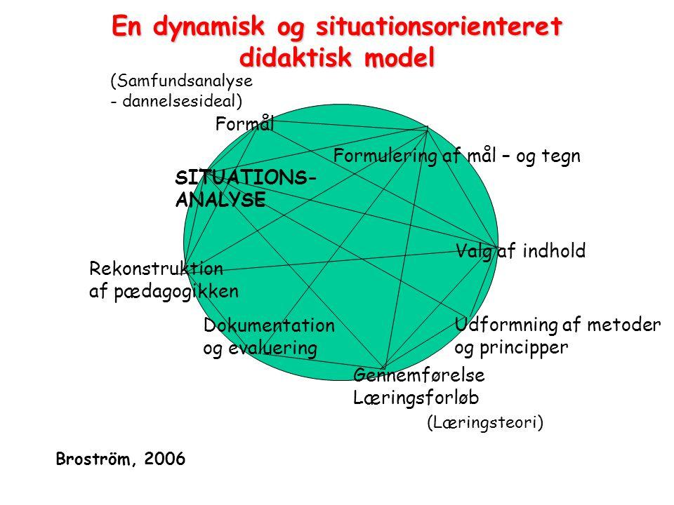 En dynamisk og situationsorienteret didaktisk model