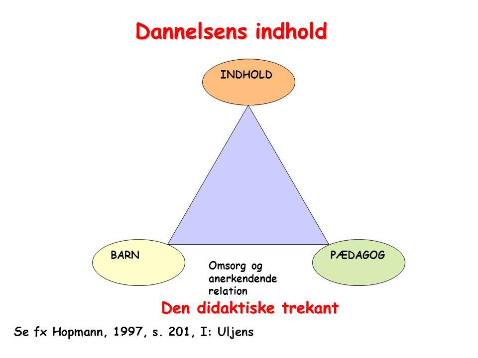 Dannelsens indhold Den didaktiske trekant