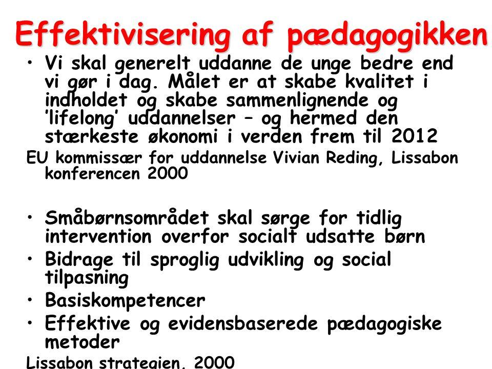 Effektivisering af pædagogikken