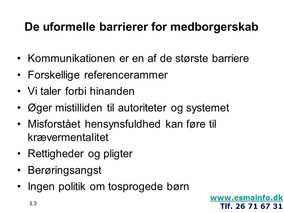 De uformelle barrierer for medborgerskab