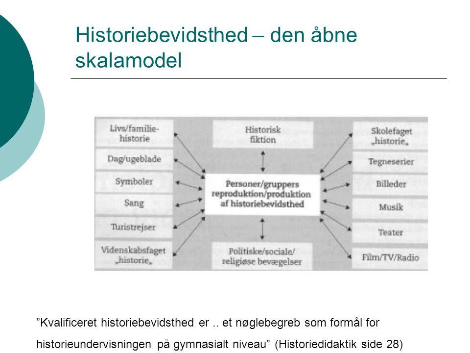 Historiebevidsthed – den åbne skalamodel