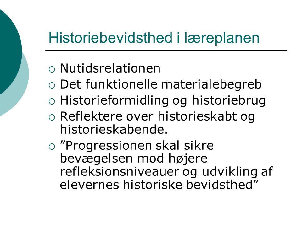 Historiebevidsthed i læreplanen