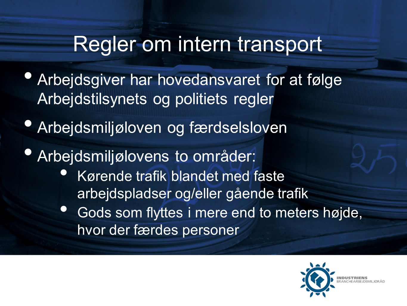 Regler om intern transport