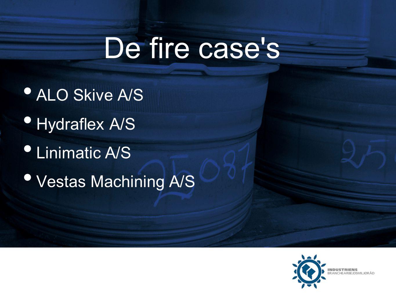 De fire case s ALO Skive A/S Hydraflex A/S Linimatic A/S