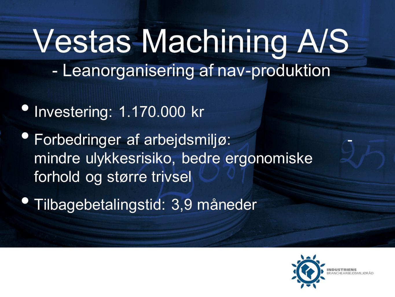 Vestas Machining A/S - Leanorganisering af nav-produktion
