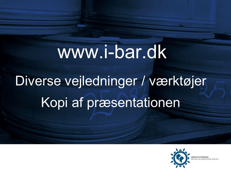www.i-bar.dk Diverse vejledninger / værktøjer Kopi af præsentationen