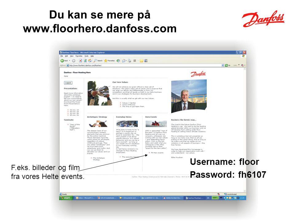 Du kan se mere på www.floorhero.danfoss.com