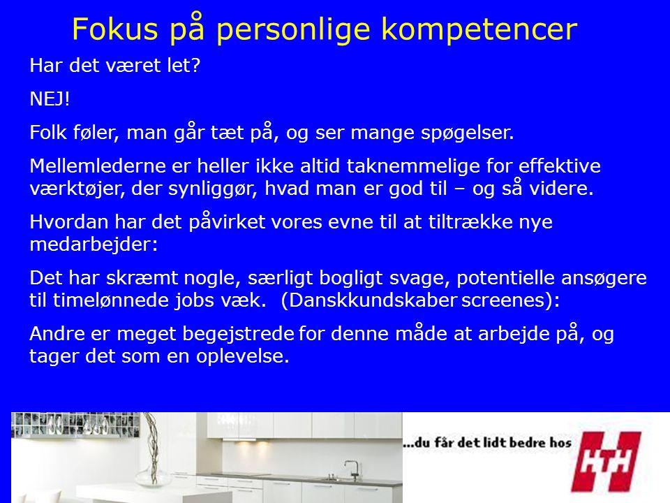 Fokus på personlige kompetencer
