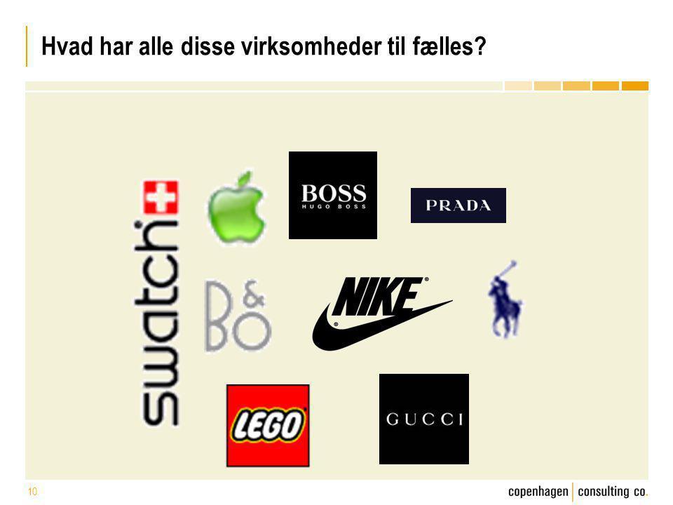 Hvad har alle disse virksomheder til fælles