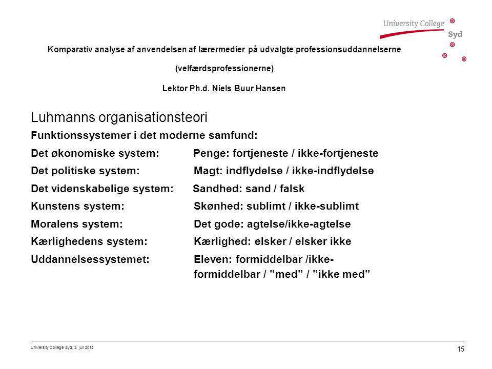 Luhmanns organisationsteori