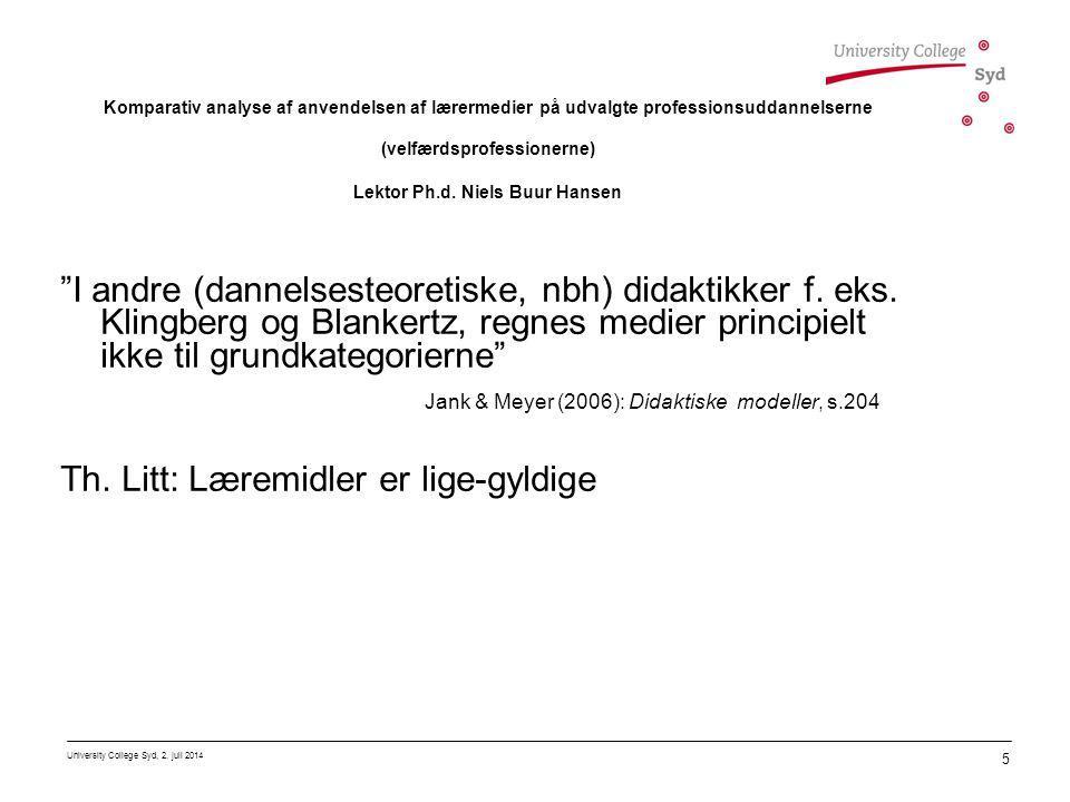 Jank & Meyer (2006): Didaktiske modeller, s.204