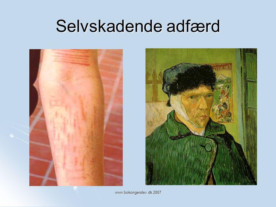 Selvskadende adfærd www.bokongerslev.dk 2007