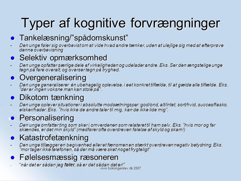 Typer af kognitive forvrængninger
