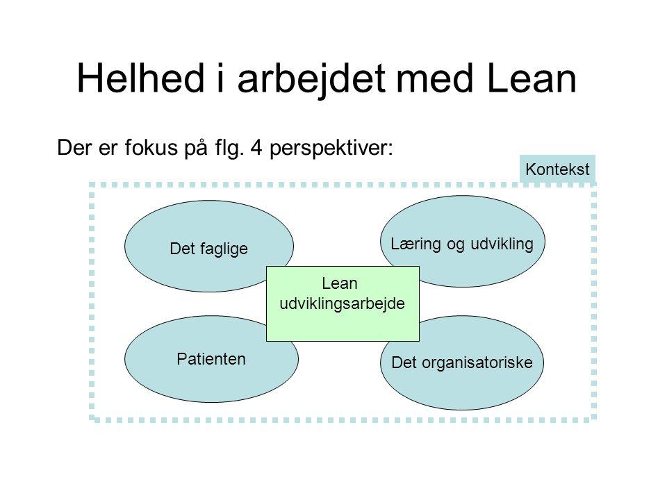 Helhed i arbejdet med Lean