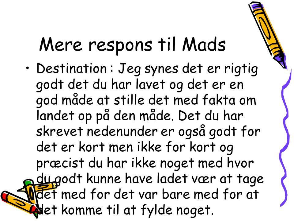 Mere respons til Mads