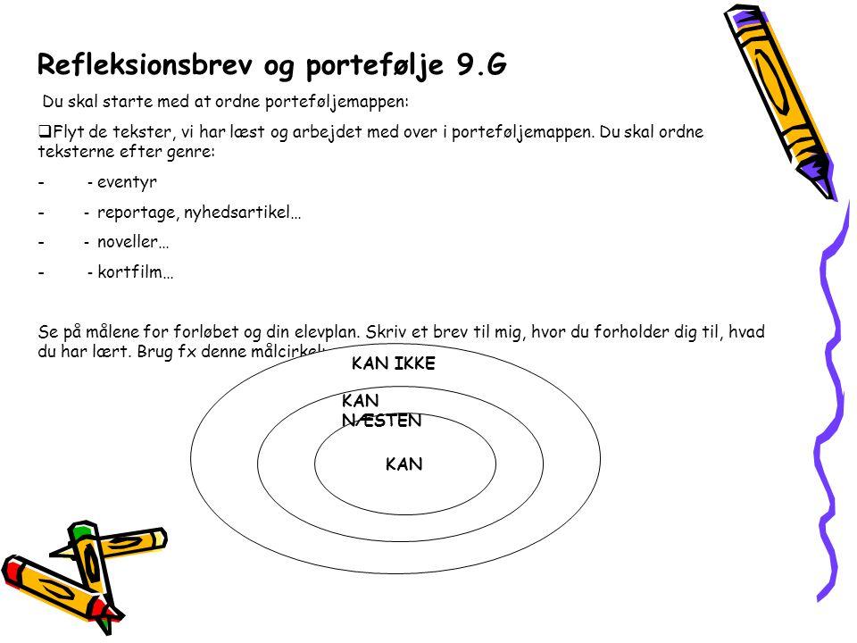 Refleksionsbrev og portefølje 9.G
