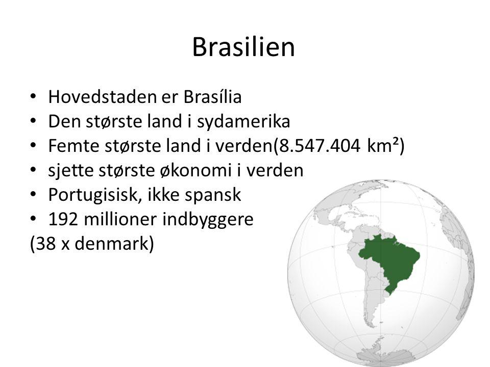 Brasilien Hovedstaden er Brasília Den største land i sydamerika