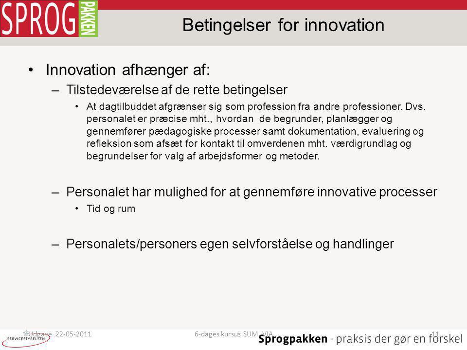Betingelser for innovation