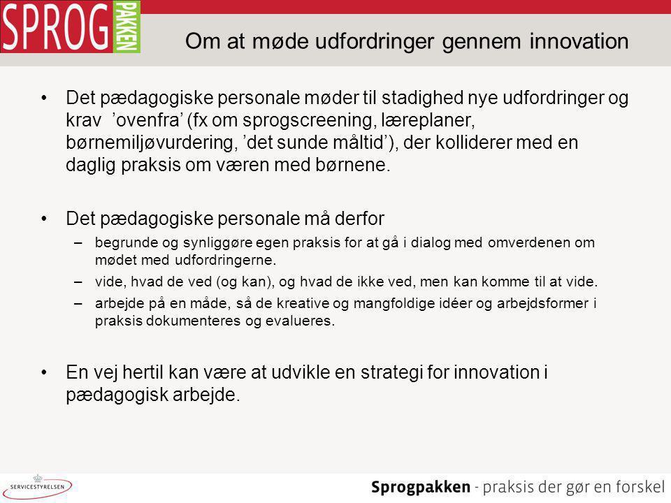 Om at møde udfordringer gennem innovation