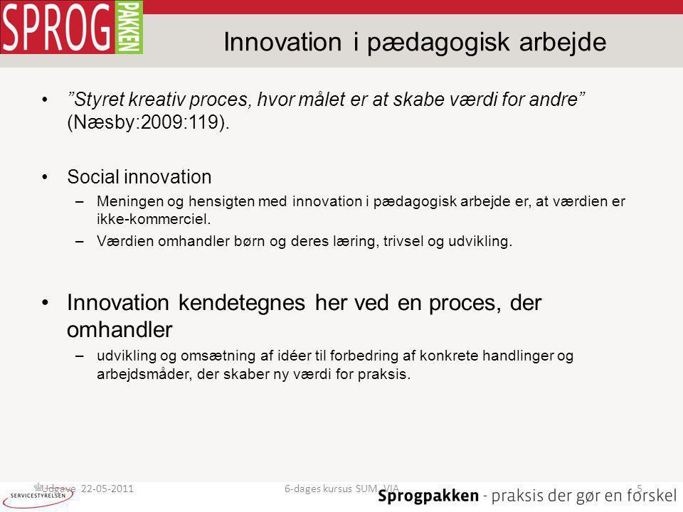 Innovation i pædagogisk arbejde