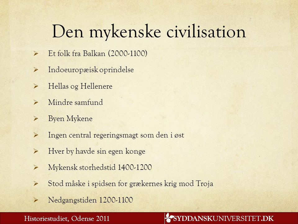 Den mykenske civilisation