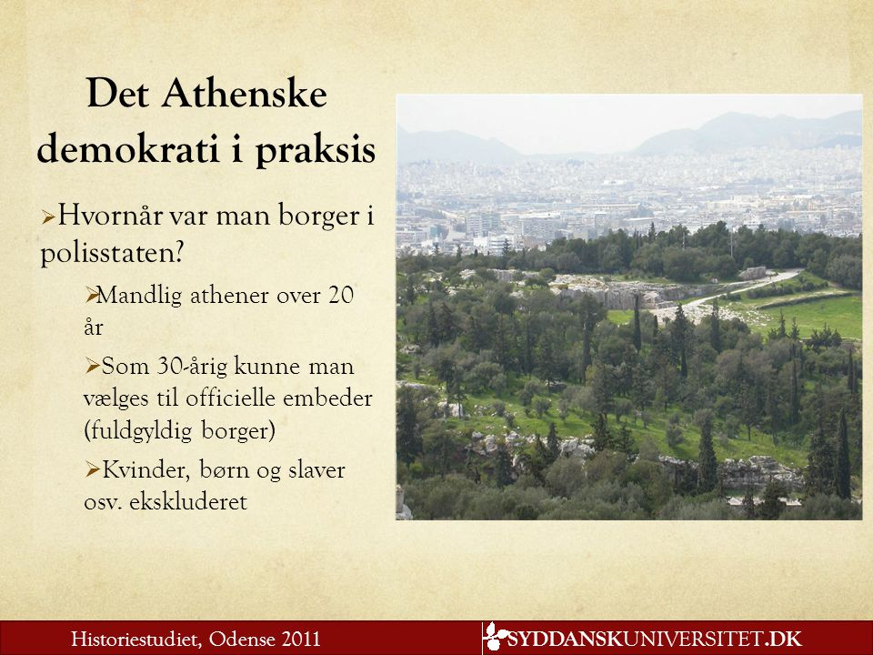 Det Athenske demokrati i praksis